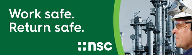 Work safe. Return safe. National Safety Council